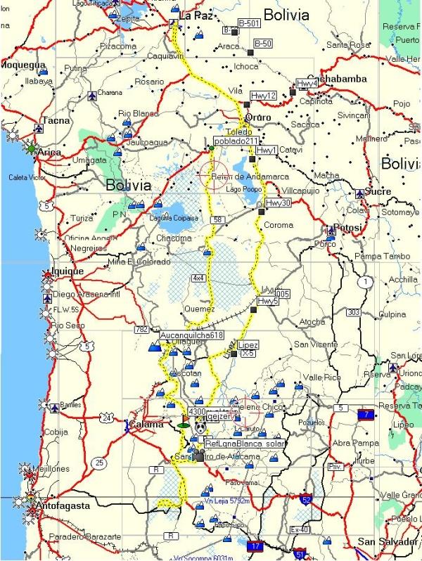 Trasa wyprawy rowerowej Andy 2011 - www.wyprawyrowerem.pl